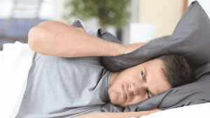 Man can't sleep due to noise